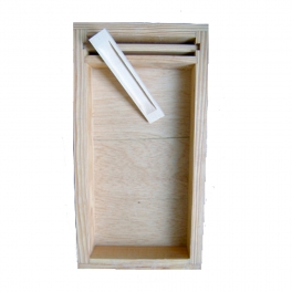 Nourrisseur couvre-cadres bois D6 parafiné