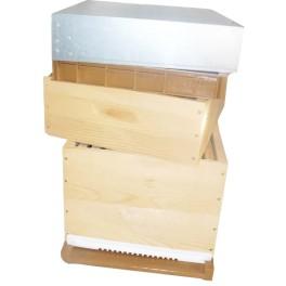Ruche D10 bois/plastique 1 hausse, cadres filés