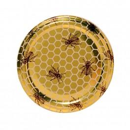 Capsule TO70 alvéoles, abeilles, dorée